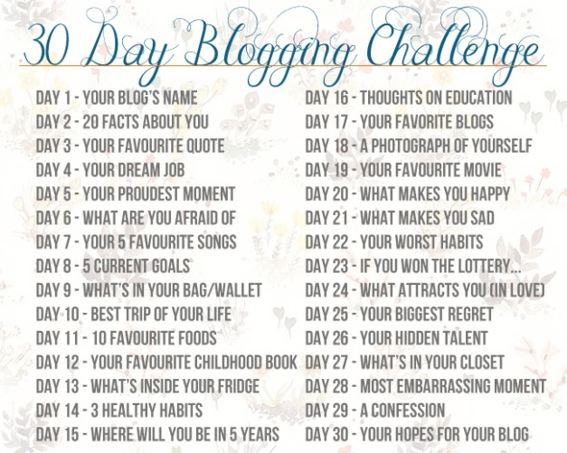 30-day Blogging Challenge