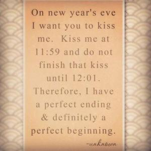 new years eve kiss