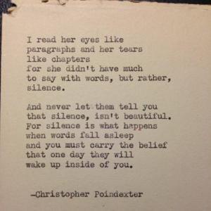 silence poem