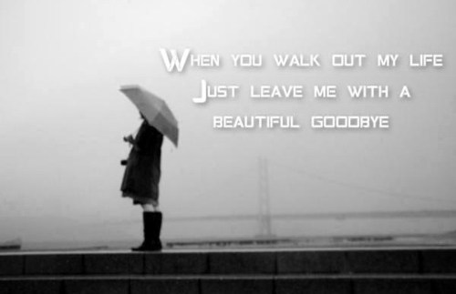when you walk out of my life leave me with a beautiful goodbye