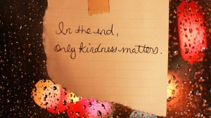 in the end only kindness matter