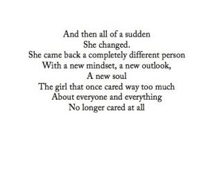she changed