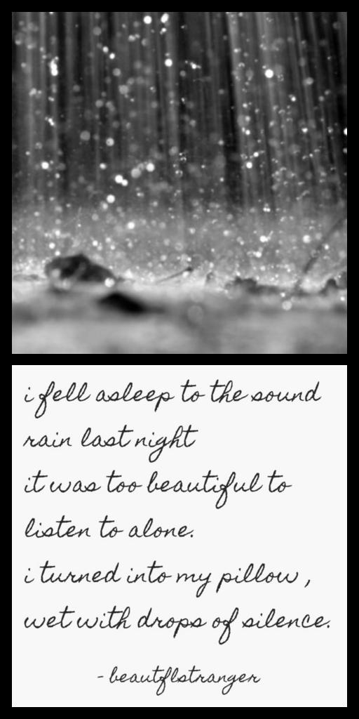 fell asleep to the rain
