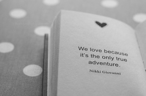we love because its the only true adventure_bw