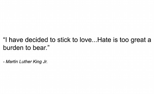 hate is too hard