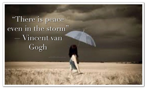 there is peace within the storm