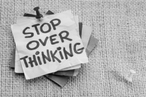 over thinking bw