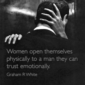 women open to trust emotionally